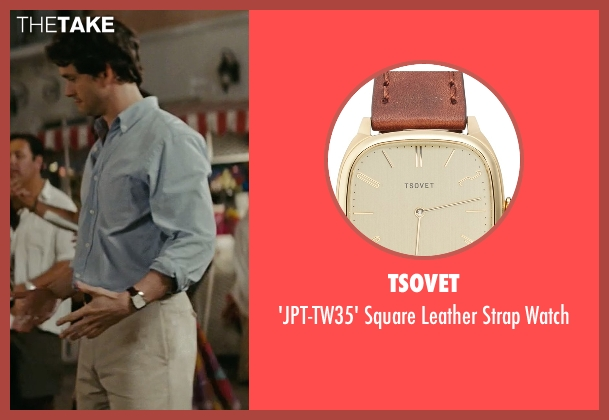 Tsovet brown watch from Confessions of a Shopaholic seen with Hugh Dancy (Luke Brandon)
