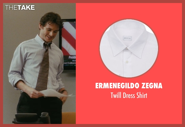 Ermenegildo Zegna white shirt from Confessions of a Shopaholic seen with Hugh Dancy (Luke Brandon)
