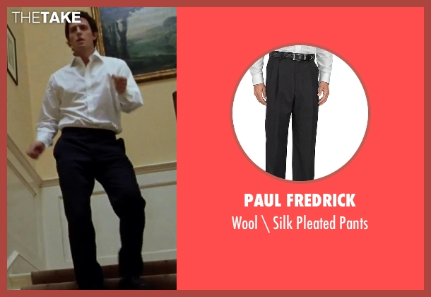Paul Fredrick black pants from Love Actually seen with Hugh Grant (The Prime Minister)