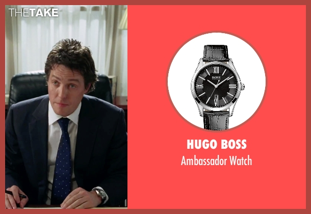 Hugo Boss black watch from Love Actually seen with Hugh Grant (The Prime Minister)