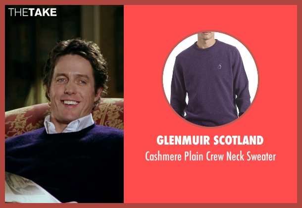 Glenmuir Scotland purple sweater from Love Actually seen with Hugh Grant (The Prime Minister)