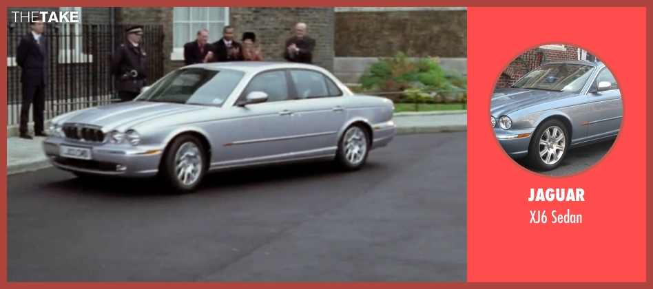 Jaguar sedan from Love Actually seen with Hugh Grant (The Prime Minister)