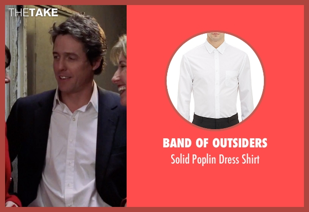 Band of Outsiders white shirt from Love Actually seen with Hugh Grant (The Prime Minister)
