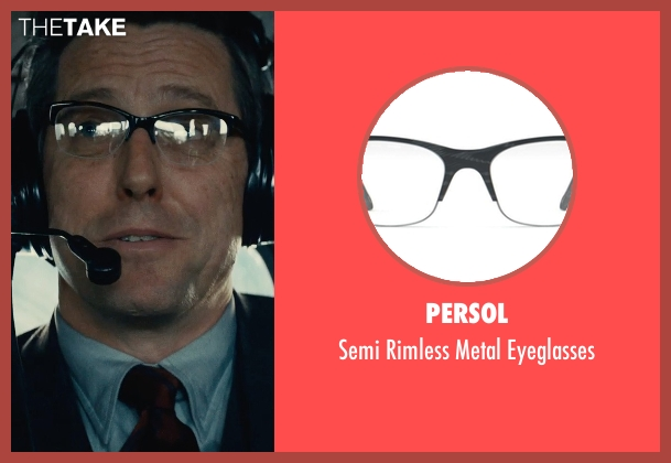 Persol black eyeglasses from The Man from U.N.C.L.E. seen with Hugh Grant (Waverly)