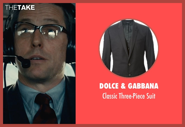 Dolce & Gabbana black suit from The Man from U.N.C.L.E. seen with Hugh Grant (Waverly)