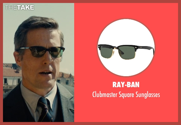 Ray-Ban black sunglasses from The Man from U.N.C.L.E. seen with Hugh Grant (Waverly)