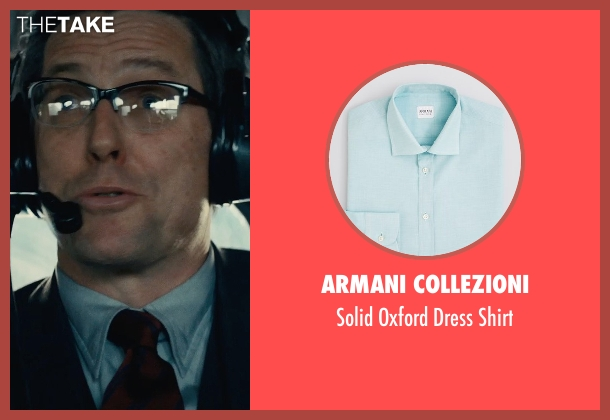 Armani Collezioni blue shirt from The Man from U.N.C.L.E. seen with Hugh Grant (Waverly)