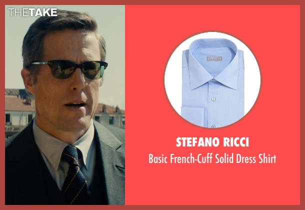 Stefano Ricci blue shirt from The Man from U.N.C.L.E. seen with Hugh Grant (Waverly)
