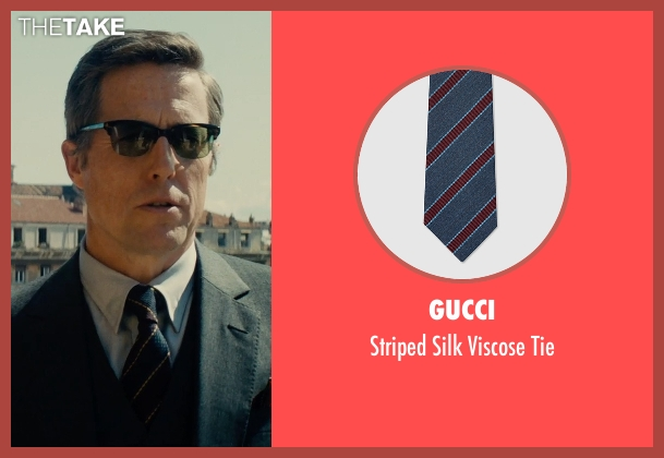 Gucci blue tie from The Man from U.N.C.L.E. seen with Hugh Grant (Waverly)