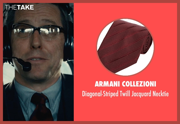 Armani Collezioni red necktie from The Man from U.N.C.L.E. seen with Hugh Grant (Waverly)