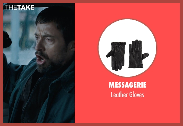 Messagerie black gloves from Prisoners seen with Hugh Jackman (Keller Dover)