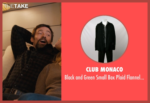 Club Monaco black shirt from Prisoners seen with Hugh Jackman (Keller Dover)