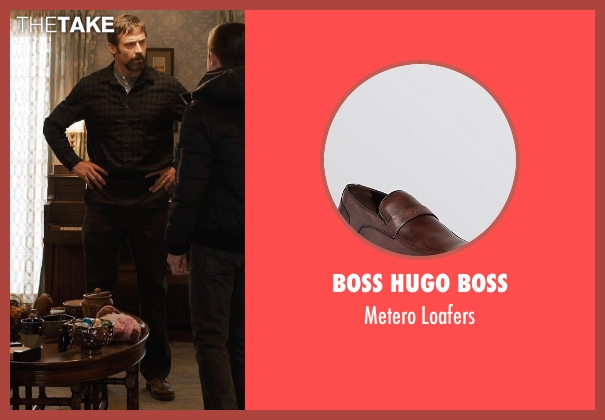 Boss Hugo Boss brown loafers from Prisoners seen with Hugh Jackman (Keller Dover)