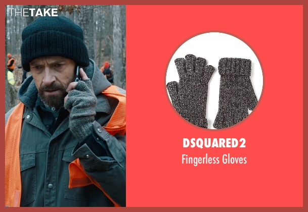 Dsquared2 gray gloves from Prisoners seen with Hugh Jackman (Keller Dover)