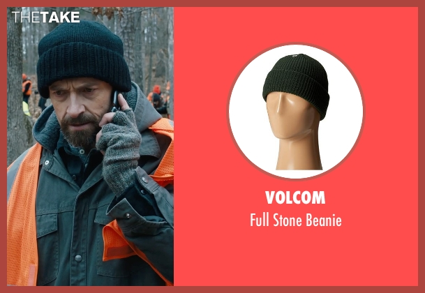 Volcom green beanie from Prisoners seen with Hugh Jackman (Keller Dover)