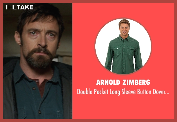 Arnold Zimberg green shirt from Prisoners seen with Hugh Jackman (Keller Dover)