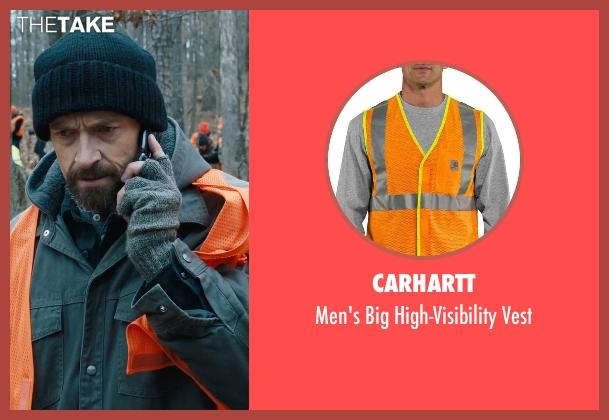 Carhartt orange vest from Prisoners seen with Hugh Jackman (Keller Dover)