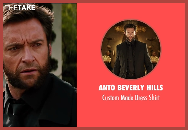 Anto Beverly Hills black shirt from The Wolverine seen with Hugh Jackman (Logan / Wolverine)