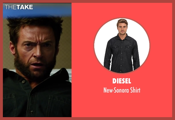 Diesel black shirt from The Wolverine seen with Hugh Jackman (Logan / Wolverine)