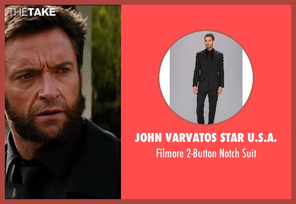 John Varvatos Star U.S.A. black suit from The Wolverine seen with Hugh Jackman (Logan / Wolverine)