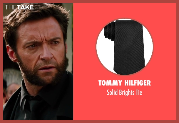 Tommy Hilfiger black tie from The Wolverine seen with Hugh Jackman (Logan / Wolverine)