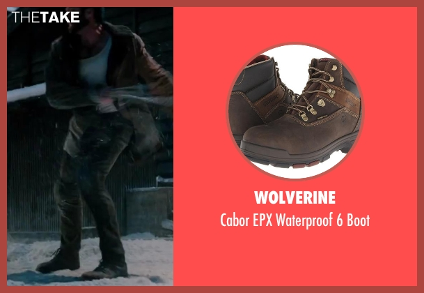 Wolverine brown boot from The Wolverine seen with Hugh Jackman (Logan / Wolverine)