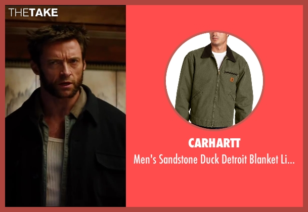 Carhartt green jacket from The Wolverine seen with Hugh Jackman (Logan / Wolverine)
