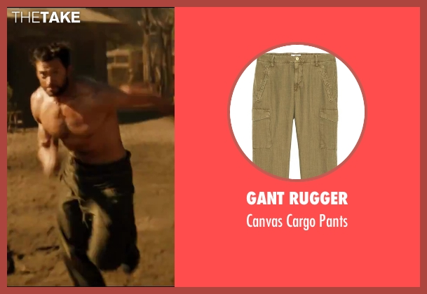 Gant Rugger green pants from The Wolverine seen with Hugh Jackman (Logan / Wolverine)