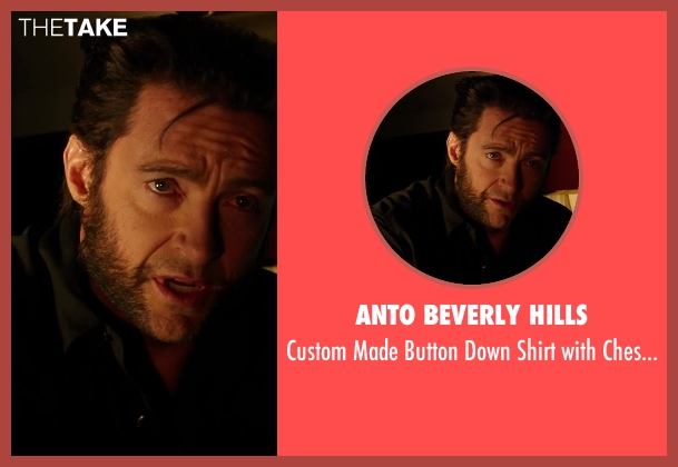 Anto Beverly Hills black pockets from X-Men: Days of Future Past seen with Hugh Jackman (Logan / Wolverine)