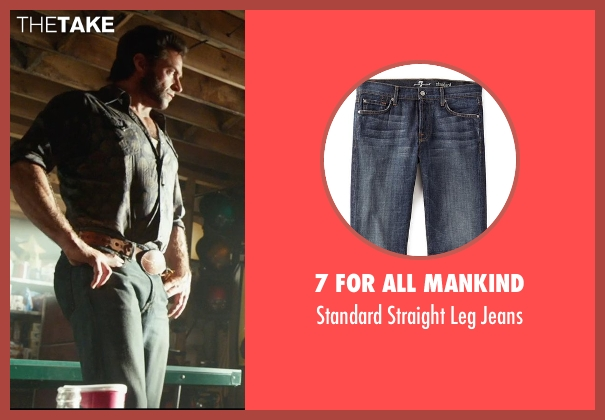 7 For All Mankind blue jeans from X-Men: Days of Future Past seen with Hugh Jackman (Logan / Wolverine)
