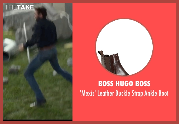 Boss Hugo Boss brown boot from X-Men: Days of Future Past seen with Hugh Jackman (Logan / Wolverine)