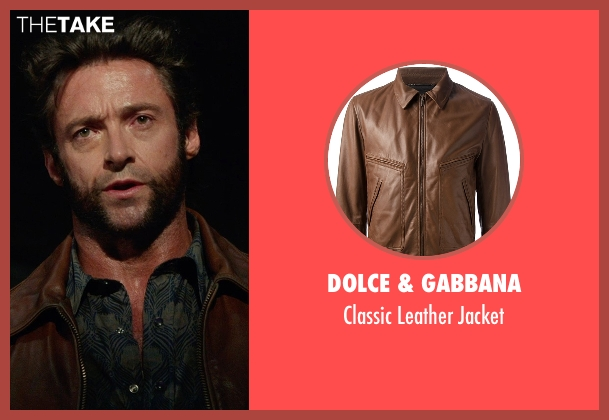 Dolce & Gabbana brown jacket from X-Men: Days of Future Past seen with Hugh Jackman (Logan / Wolverine)