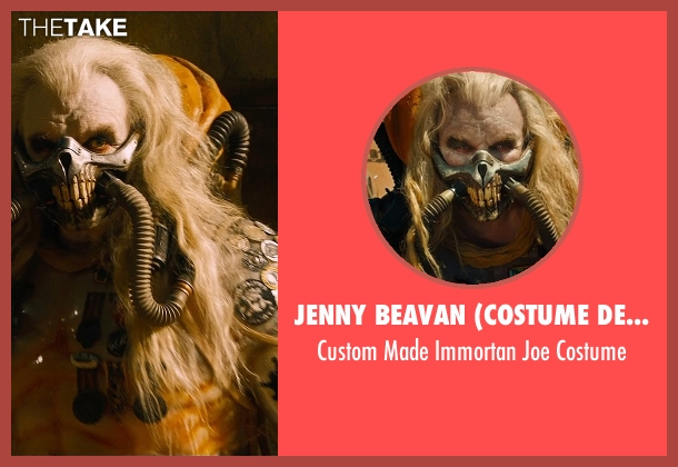 Jenny Beavan (Costume Designer) costume from Mad Max: Fury Road seen with Hugh Keays-Byrne (Immortan Joe)