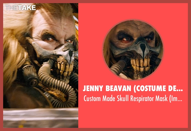 Jenny Beavan (Costume Designer) mask from Mad Max: Fury Road seen with Hugh Keays-Byrne (Immortan Joe)