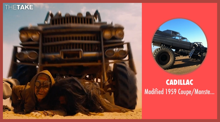 Cadillac truck from Mad Max: Fury Road seen with Hugh Keays-Byrne (Immortan Joe)