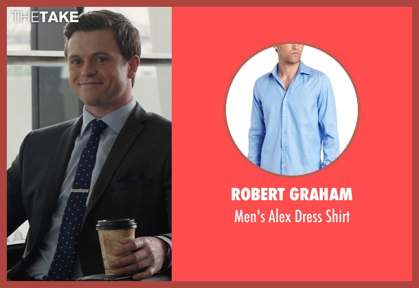 Robert Graham blue shirt from San Andreas seen with Hugo Johnstone-Burt (Ben)