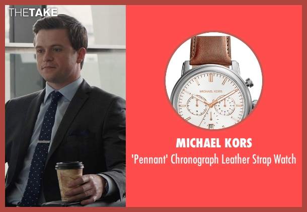 Michael Kors brown watch from San Andreas seen with Hugo Johnstone-Burt (Ben)