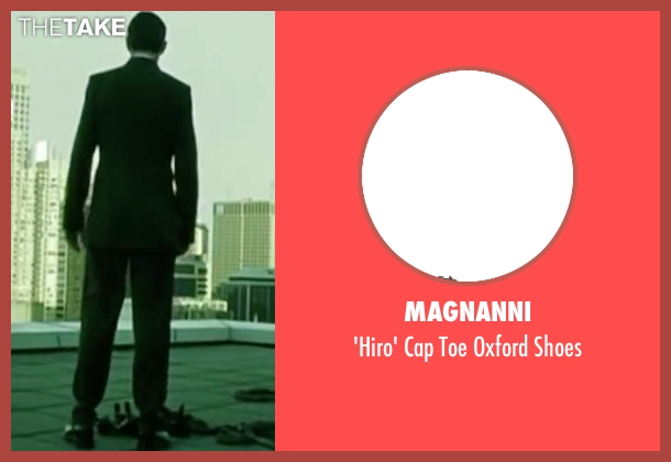 Magnanni black shoes from The Matrix seen with Hugo Weaving (Agent Smith)
