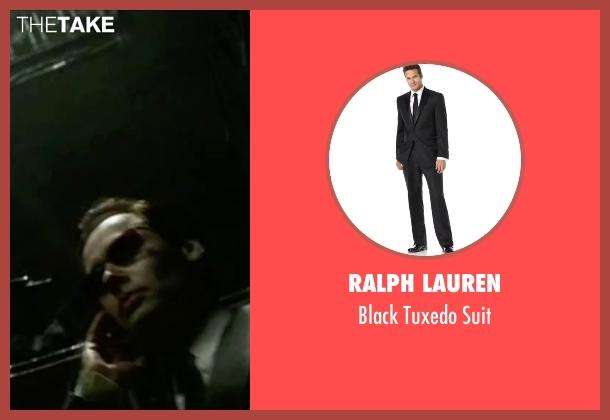 Ralph Lauren black suit from The Matrix seen with Hugo Weaving (Agent Smith)
