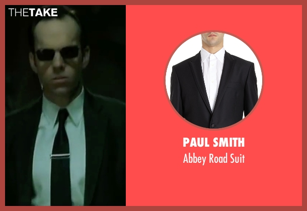 Paul Smith black suit from The Matrix seen with Hugo Weaving (Agent Smith)