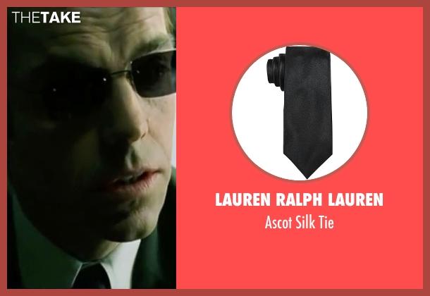 Lauren Ralph Lauren black tie from The Matrix seen with Hugo Weaving (Agent Smith)