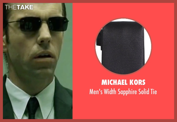 Michael Kors black tie from The Matrix seen with Hugo Weaving (Agent Smith)
