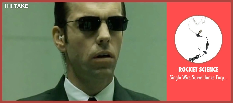 Rocket Science earpiece from The Matrix seen with Hugo Weaving (Agent Smith)