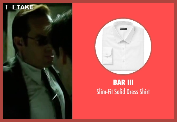 Bar III white shirt from The Matrix seen with Hugo Weaving (Agent Smith)