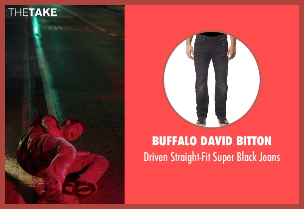 Buffalo David Bitton black jeans from The Best of Me seen with Hunter Burke  (Abee)