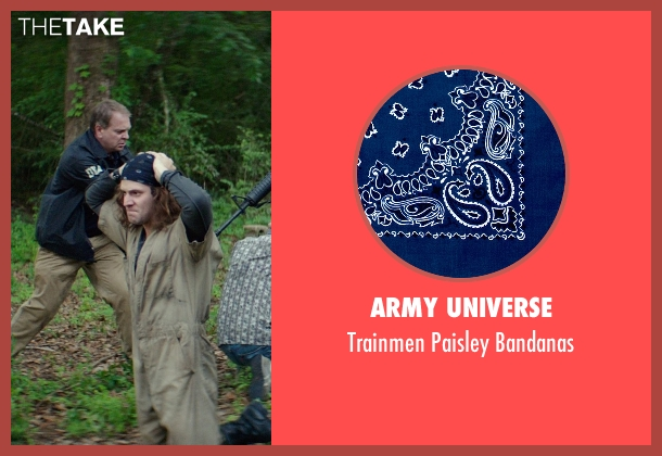 Army Universe blue bandanas from The Best of Me seen with Hunter Burke  (Abee)
