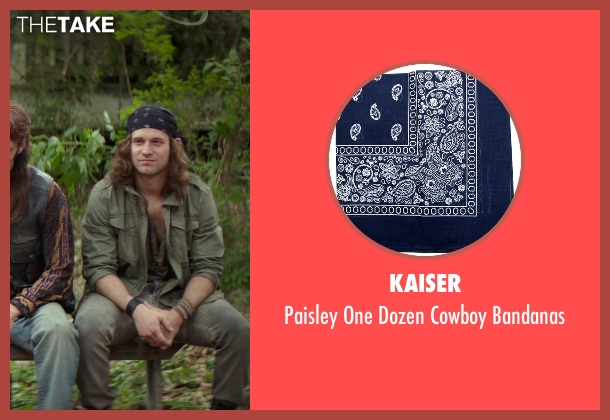 Kaiser blue bandanas from The Best of Me seen with Hunter Burke  (Abee)