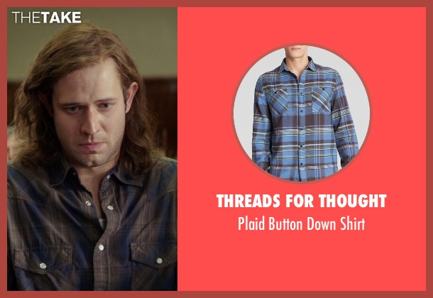 Threads For Thought blue shirt from The Best of Me seen with Hunter Burke  (Abee)