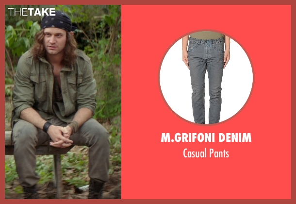 M.Grifoni Denim gray pants from The Best of Me seen with Hunter Burke  (Abee)