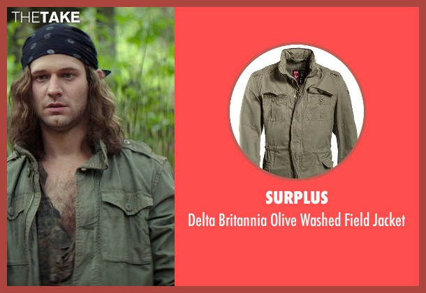 Surplus green jacket from The Best of Me seen with Hunter Burke  (Abee)